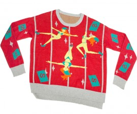 Pole Dancing Elves Sweater