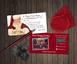NaughtyCoal with Hand Written Note from Santa