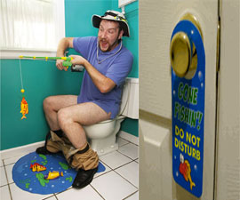 Toilet Fishing Set