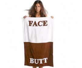 Face Butt Towel