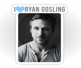 I Heart Ryan Gosling Stickers