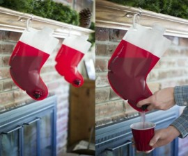 Santa's Stocking Flask