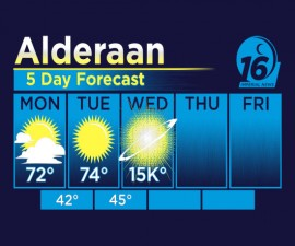Alderaan 5 Day Forecast Shirt