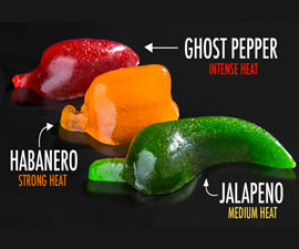 Spicy Gummy Peppers