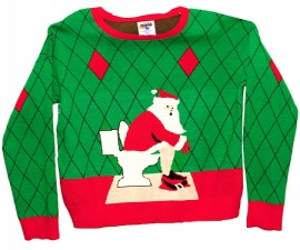 Toilet Santa Sweater