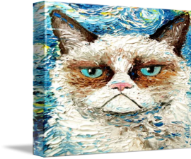 Grumpy Cat On Stretched Canvas