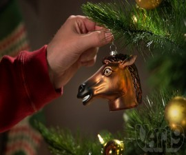 Creepy Horse Head Ornament